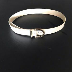 Cream Leather Belt